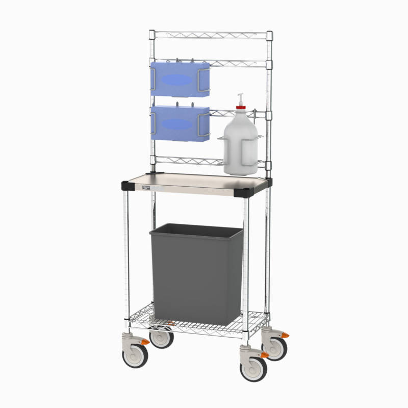Metro Sanitizer Stand Model No. CR142454-SNST