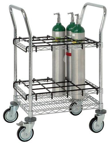 Quantum Cylinder Transport Inhalation Therapy Cart WRC IT1824