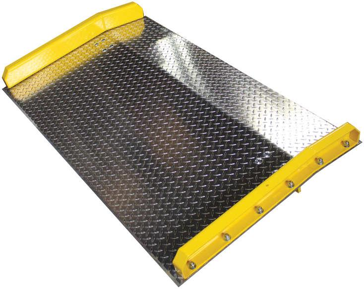 Steel Curb Aluminum Dock Boards - 15,000 Lb Capacity