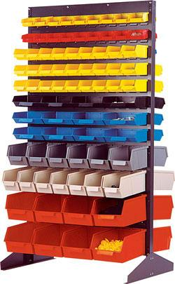 Quantum - Double Sided Floor Unit with Stack and Lock Bins