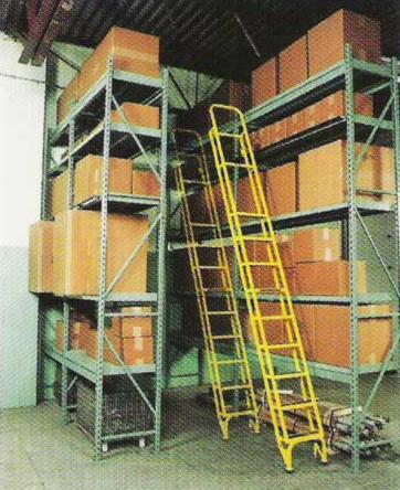 Dual Trak Ladder System - Rolls full aisle length
