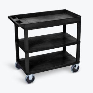 LUXOR 32x18 Cart - Two Flat/One Tub Shelves