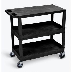 LUXOR EC211 32x18 Cart Two Flat/One Tub Shelves