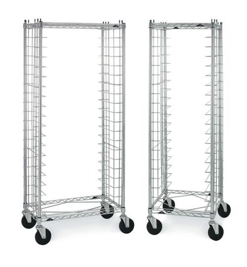 Metro End Load and Side Load Wire Tray Carts