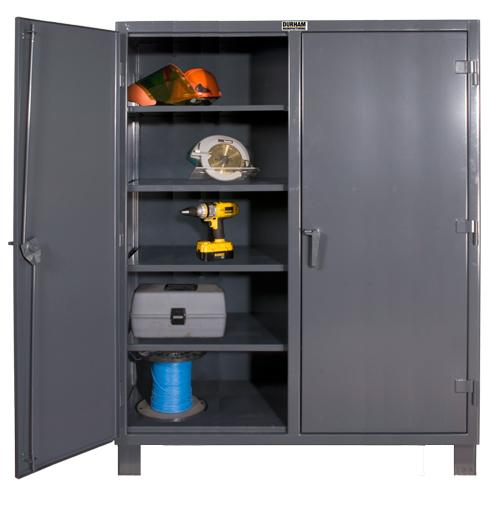 Durham Extra Heavy Duty Lockable Double Shift Storage Cabinet Model No. HDDS-246078-8S95