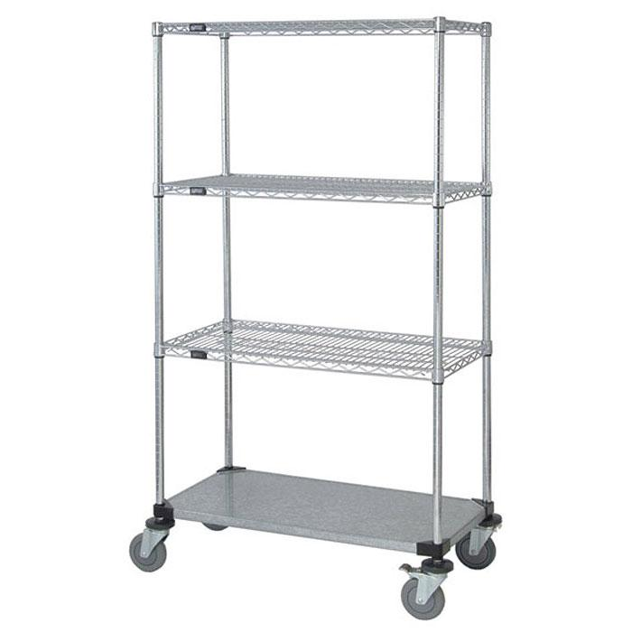 Quantum Genuine Quantum Mobile Carts - 1 Solid Shelf M1836CG46