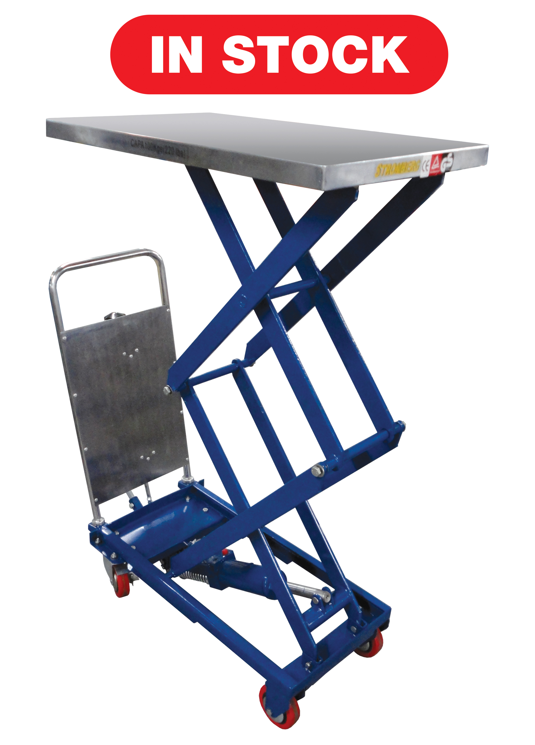 CTF-10 Hydraulic Elevating Carts - 220 lb. Capacity
