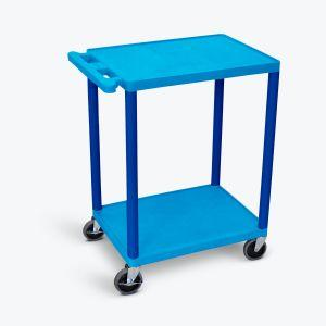 LUXOR HE32 Flat Shelf Carts in blue