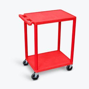LUXOR HE32 Flat Shelf Carts in red