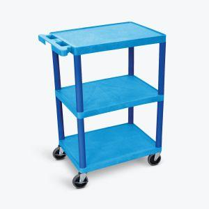 LUXOR HE Series Utility Cart in blue