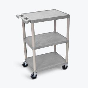 LUXOR HE Series Utility Cart in gray