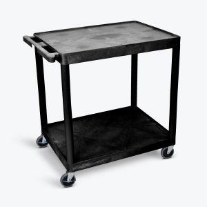 LUXOR Utility Cart - Two Shelves Structural Foam Plastic