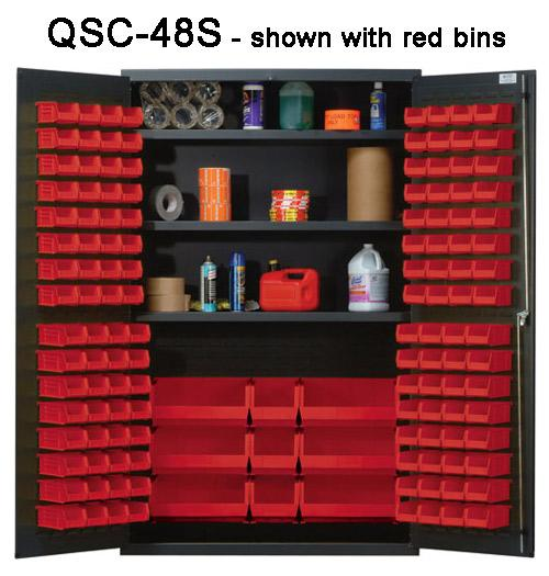 Quantum Heavy Duty All Welded Bin Cabinet - 48 inch Wide QSC-48S