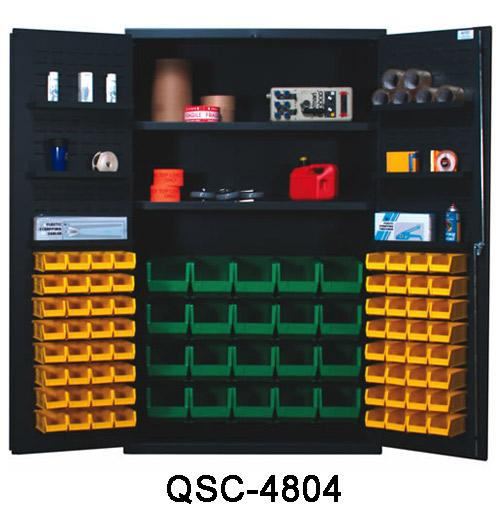 Quantum Heavy Duty All Welded Bin Cabinet - 48 inch Wide QSC-4804