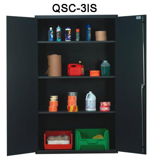 Quantum Heavy Duty All Welded Bin Cabinet - 48 inch Wide QSC-3IS