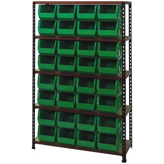 Stromberg Heavy Duty Particle Board Shelving with Bins Model No. PB-32240