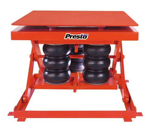 Presto Lifts - Heavy Duty Pneumatic Scissor Lift and Rotate - Model No. AXSR20-3648
