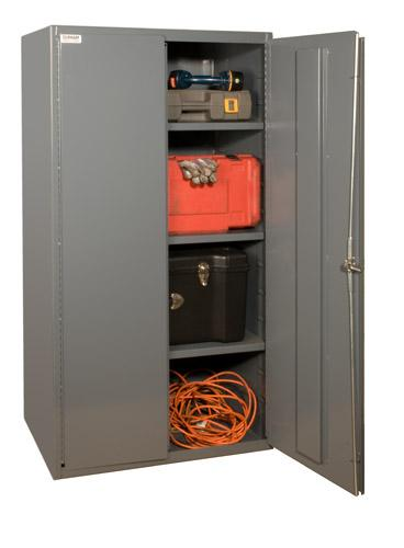 Durham Industrial Duty 16 Gauge Cabinets with Adjustable Shelves Model No. 2601-3S-95