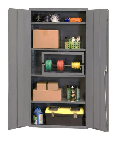 Durham Industrial Duty 16 Gauge Cabinets with Adjustable Shelves Model No. 2501-4S-95