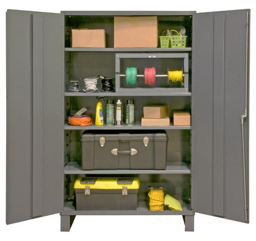 Durham Industrial Duty 16 Gauge Cabinets with Adjustable Shelves Model No. 2505-4S-95