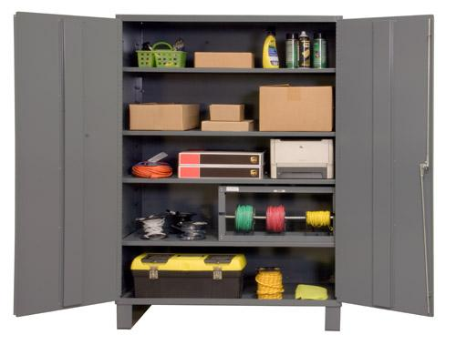 Durham Industrial Duty 16 Gauge Cabinets with Adjustable Shelves Model No. 2506-4S-95