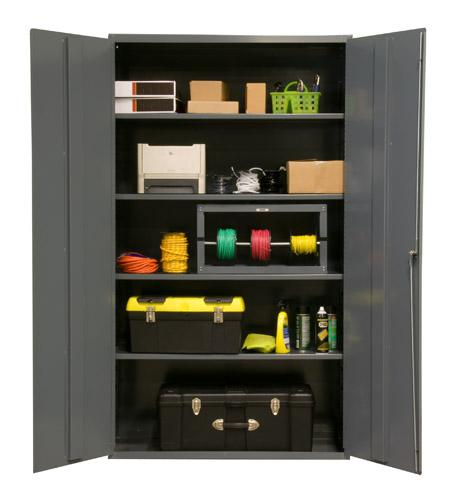 Durham Industrial Duty 16 Gauge Cabinets with Adjustable Shelves Model No. 2502-4S-95