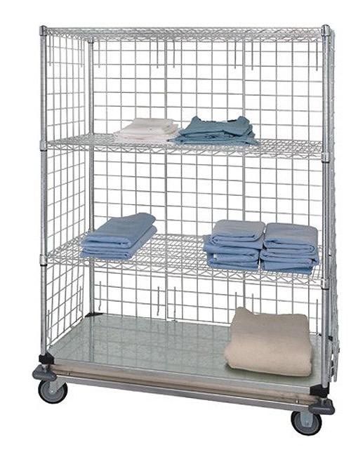 Quantum Linen Cart 3 Sided with Dolly Base