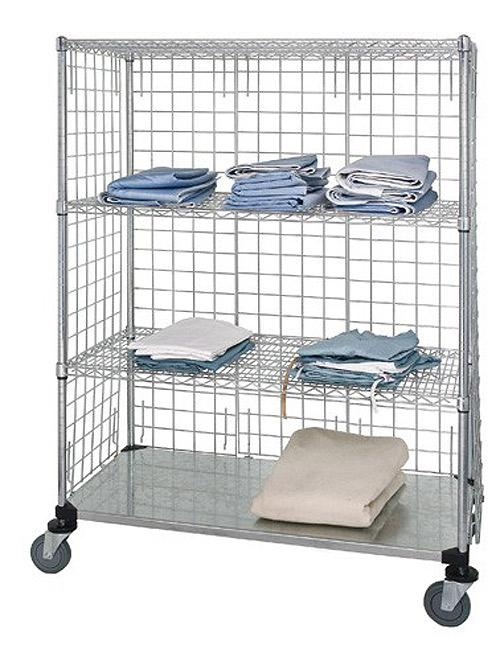 Quantum 3 Sided Stem Caster Linen Cart WRCS64 63 2436EP