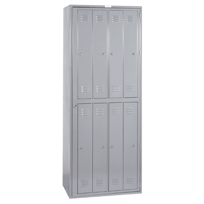 Lyon 8-Door Wide-Body Hanging Garment Exchange Locker With Keyed Locks, Model 6408W
