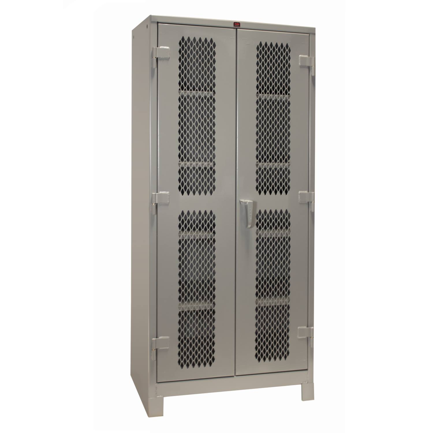 1114 All-Welded Storage Cabinet Diamond Perf Doors 36 x 21 x 82