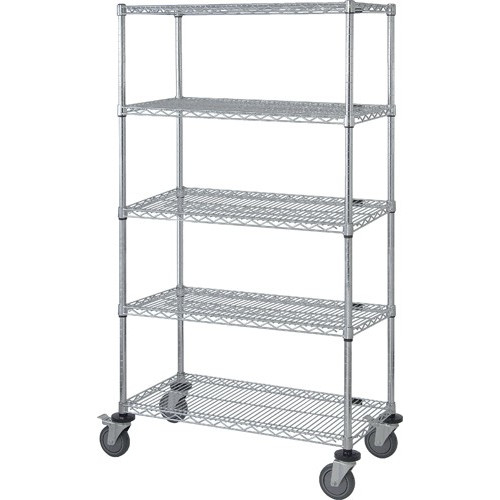 Quantum Stem Caster 5 Wire Shelf Mobile Carts Proform Green Epoxy
