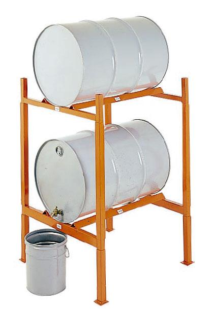 MECO OMAHA Modular Drum Storage Rack with Feet and Connectors