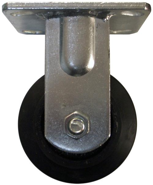 Stromberg 4 Inch Mold-On Rubber Iron Core Rigid Cushion Caster Model No. CA6R-4MOR