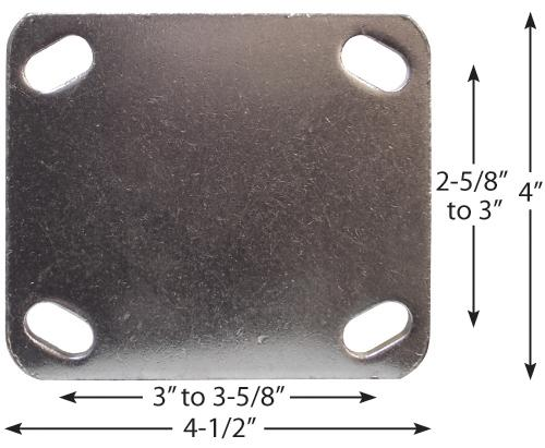 Stromberg Mold-On Rubber Iron Core Rigid Cushion Caster Plate