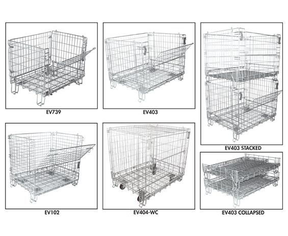 Open Foot Wire Containers