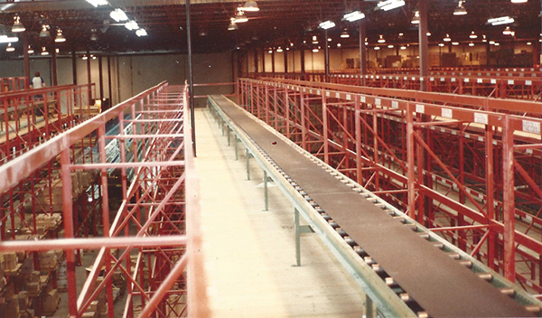 Total Distribution Center Conveyor, Flow Racks, Multi-Level Pick