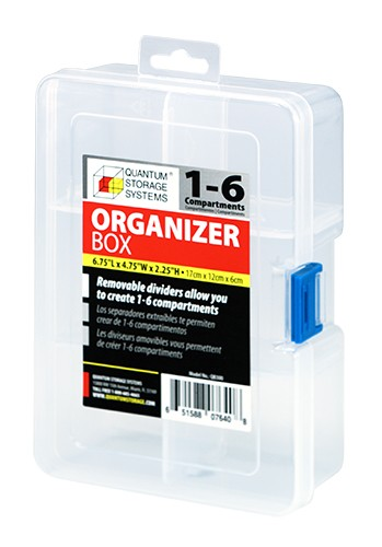 Quantum QB300 Clear Compartment Storage Box
