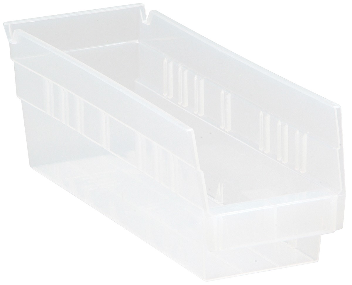Clear-View Economy Shelf Bins, Model QSB101CL