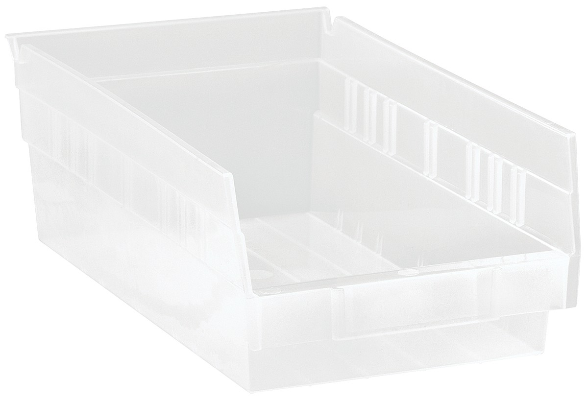 Clear-View Economy Shelf Bins, Model QSB102CL