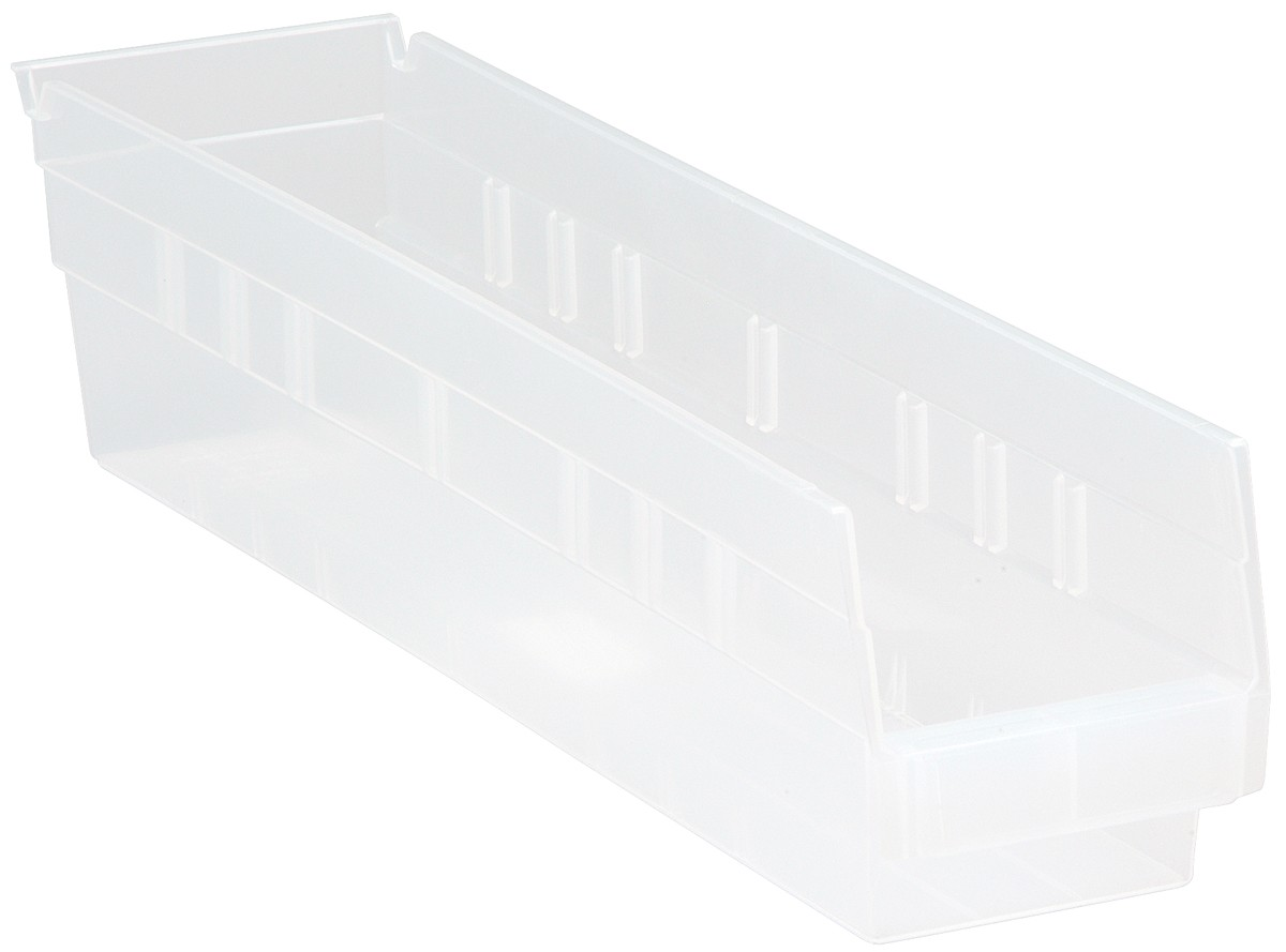 Clear-View Economy Shelf Bins, Model QSB103CL