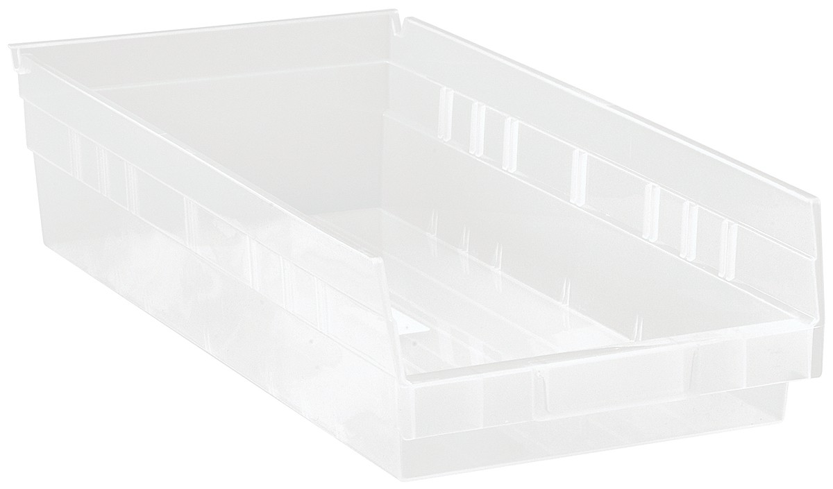 Clear-View Economy Shelf Bins, Model QSB104CL