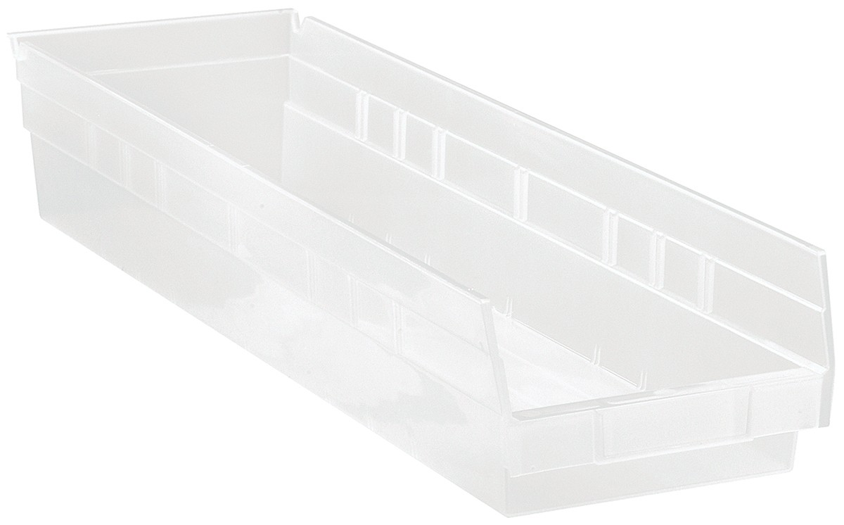 Clear-View Economy Shelf Bins, Model QSB106CL