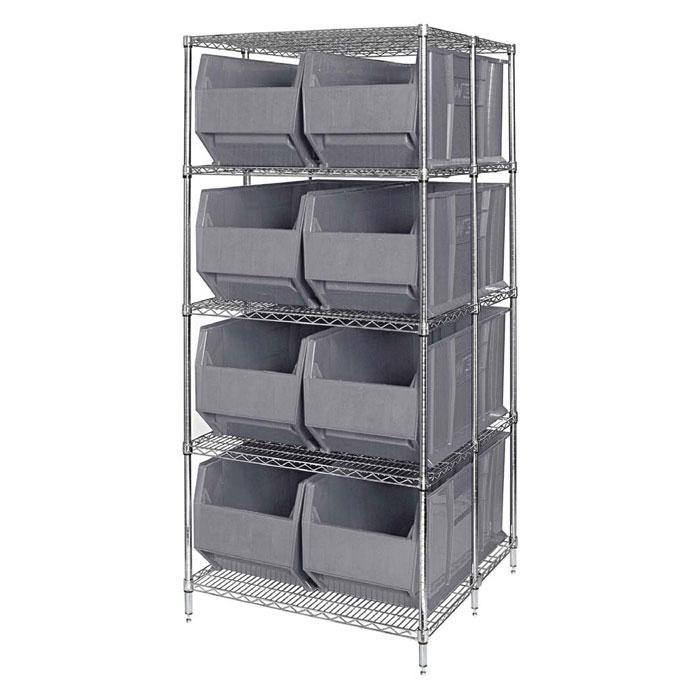 Quantum Rack Bin Containers Wire Packages WRA86-2136C-166