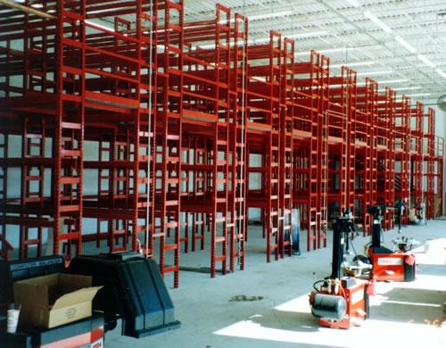Stromberg Rack Supported Mezzanine for Tire Storage
