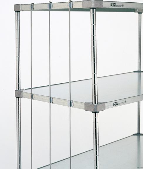 Metro Rods and Tabs for Super Erecta Solid Shelves