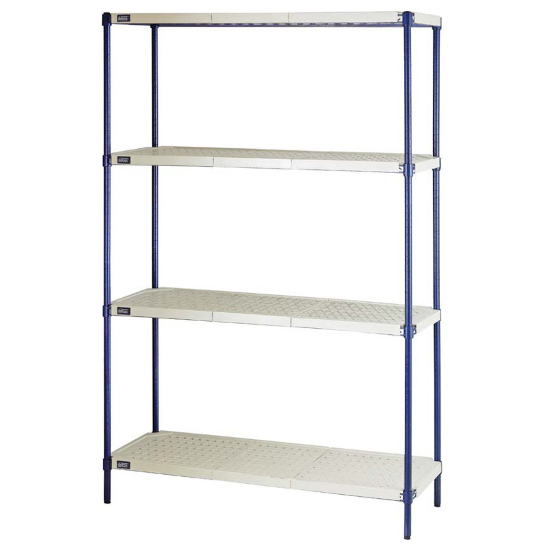 Quantum Anti-Bacterial Blue Wire Plastic Mat Shelving Units
