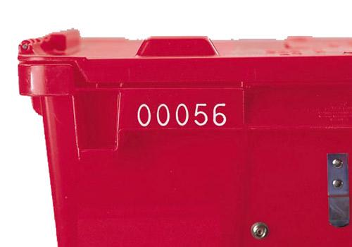 Lewis Bins Sequential Numbering Hot Stamp Identification