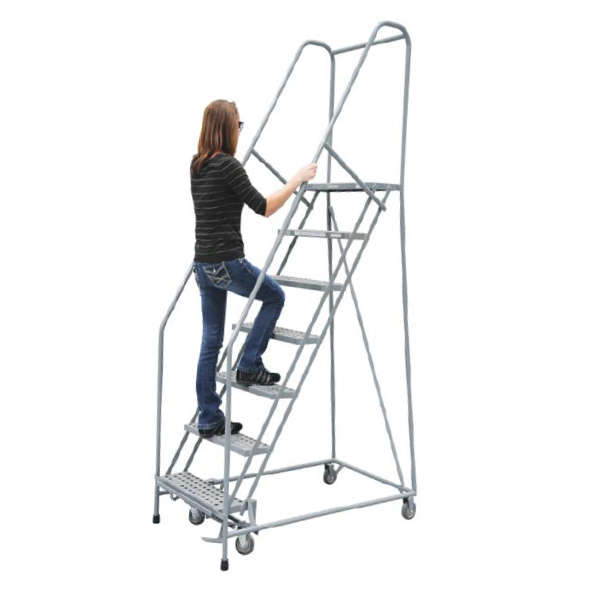Cotterman Series 1000 Rolling Metal Ladders 24 Inch Tread Width