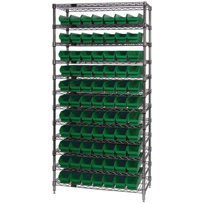 Quantum Shelf Bin Wire Shelving Systems WR12-101