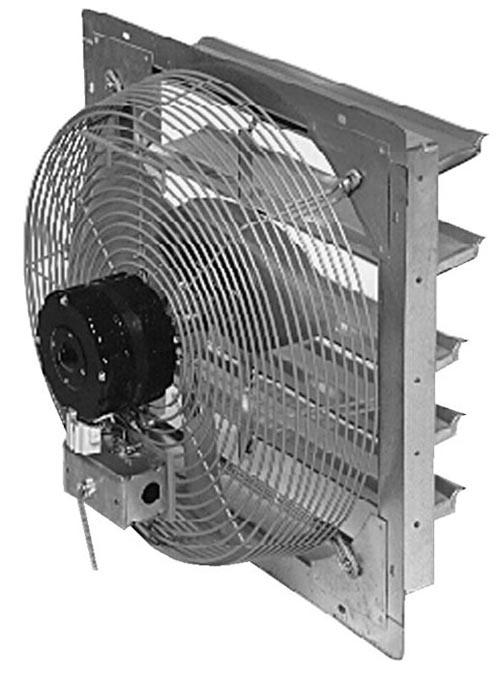 Vestil Shutter Mounted Exhaust Fan